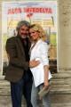 Foto IPP/Gioia Botteghi  Roma 22/02/2010 presentazione del film Alta Infedeltà, nella foto Pino Insegno  con Justine Mattera