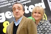 Foto IPP/Gioia Botteghi  Roma 23/02/2010 presentazione del film Genitori e figli, istruzioni per l'uso, nella foto Luciana Litizzetto e Silvio Orlando