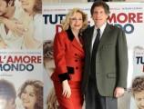 Foto IPP/Gioia Botteghi  Roma 15/03/2010 presentazione del film TUTTO L'AMORE DEL MONDO, nella foto: Riccardo Rossi con Monica Scattini