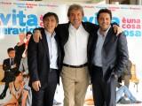 foto:IPP/Gioia Botteghi Roma 26/03/2010 Presentazione del film LA VITA E' UNA COSA MERAVIGLIOSA, nella foto: Enrico Brignano , Gigi Proietti , Vincenzo Salemme