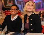 foto:IPP/Gioia Botteghi Roma 16/04/2010 conferenza stampa della  trasmissione _La Pupa e il secchione_, nella foto Paola Barale ed Enrico Papi conduttori del programma su Italia 1