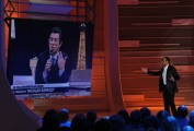foto:IPP/Gioia Botteghi Roma 26/04/2010 prima puntata della trasmissione Aria Fresca, nella foto: Carlo Conti con Manlio Dovì che imita il presidente francese