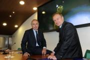 foto:IPP/Gioia Botteghi Roma 25/05/2010 Presentazione rai dei programmi dei mondiali di calcio, nella foto: Petrucci e Giancarlo Abete