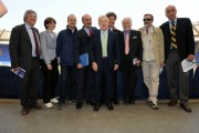 foto:IPP/Gioia Botteghi Roma 25/05/2010 Presentazione rai dei programmi dei mondiali di calcio, nella foto: Garimberti Presidente rai e lo staf di radiorai sport