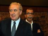 foto:IPP/Gioia Botteghi Roma 7/06/2010 Conferenza stampa di Michele Santoro per fine trasmissione rai viale Mazzini  con Sandro Ruotolo