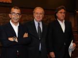 foto:IPP/Gioia Botteghi Roma 7/06/2010 Conferenza stampa di Michele Santoro per fine trasmissione rai viale Mazzini nella foto il direttore di rete Liofredi e con Sandro Ruotolo
