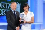 foto:IPP/Gioia Botteghi Roma 7/06/2010 Porta a porta con Francesca Schiavone con il presidente del coni Petrucci