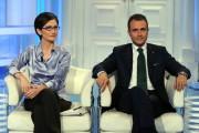 foto:IPP/Gioia Botteghi Roma 8/06/2010 Porta a porta con Marco Reguzzoni nuovo rappresentante dei deputati leghisti ed il ministro Gelmini