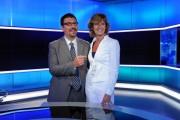 foto:IPP/Gioia Botteghi Roma 9/06/2010 Presentazione del nuovo tg1, nella foto Valentina Bisti e Stefano Campagna che sarà il nuovo volto giornalistico in studio, commentando il meteo