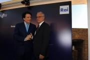 foto:IPP/Gioia Botteghi Roma 16/06/2010 Presentazione a castel Sant'Angelo dei palinsesti rai 2010_2011, nella foto Mauro Mazza e Massimo Ranieri