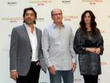 Foto IPP/Gioia Botteghi  Roma 16/09/2010 _ presentazione del film Mangia prega ama, nella foto Julia Roberts , Richard Jenkins, Javier Bardem
