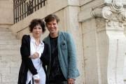 Foto IPP/Gioia Botteghi  Roma 15/09/2010 _ presentazione della fiction LA LADRA, nella foto Johannes Brandrup e Veronica Pivetti