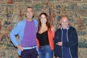 Foto/IPP/Gioia Botteghi Roma 30/09/2010 conferenza stampa di Domenica in, nella foto:Maurizio Battista, Sonia Grey, Luca Giurato