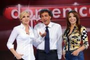 Foto/IPP/Gioia Botteghi Roma 03/10/2010 Prima puntata di Domenica in, nella foto Massimo Giletti, lorella Cuccarini  Sonia Grey