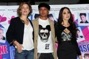 Foto/IPP/Gioia Botteghi Roma 22/10/2010 presentazione del film Maschi contro femmine, nella foto: Nicolas Vaporitis con Sarah Felberbaum, Chiara Francini