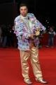 Foto/IPP/Gioia Botteghi Roma 28/10/2010 Festival del Cinema Di Roma, La protesta degli attori e dei tecnici, nella foto: l'occupazione del red carpet Charlie Gnocchi