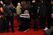 Foto/IPP/Gioia Botteghi Roma 28/10/2010 Festival del Cinema Di Roma, La protesta degli attori e dei tecnici, nella foto: l'occupazione del red carpet Barbara Bouchet