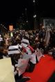 Foto/IPP/Gioia Botteghi Roma 28/10/2010 Festival del Cinema Di Roma, La protesta degli attori e dei tecnici, nella foto: l'occupazione del red carpet