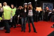 Foto/IPP/Gioia Botteghi Roma 28/10/2010 Festival del Cinema Di Roma, La protesta degli attori e dei tecnici, nella foto: l'occupazione del red carpet Elisabetta Pellini e Chiara Mastralli