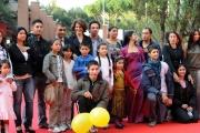 Foto/IPP/Gioia BotteghiRoma 29/10/2010 Festival del Cinema Di Roma , Chimeres Absentes con Fanny Ardan e Francesco Montanari nella foto con i rom del film
