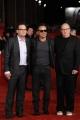 Foto/IPP/Gioia Botteghi Roma 1/11/2010 Festival del Cinema Di Roma, Bruce Springsteen con il produttore del documentaio e il regista Jon Landau e Thom Zimny
