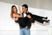 Foto/IPP/Gioia Botteghi Roma 12/11/2010visita sul set del film SE SEI COSI, TI DICO SI, nella foto: Belen Rodriguez con Emilio Solfrizzi