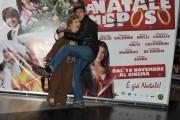 Foto/IPP/Gioia Botteghi Roma 24/11/2010 presentazione del film A Natale mi sposo, nella foto: Massimo Ceccherini e Valeria Valeri