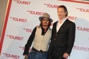 Foto/IPP/Gioia Botteghi Roma 15/12/2010 presentazione del film The Tourist, nella foto: Johnny Depp con il regista Flòorian Henckel  Von Donnersmarck