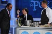Foto/IPP/Gioia Botteghi Roma 20/12/2010 puntata di porta a porta con il ministro Renato Brunetta ai fornelli Bruno Vespa e Fabrizio Nonis