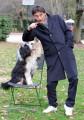 Foto/IPP/Gioia Botteghi Roma 21/12/2010 presentazione della fiction mediaset _ UN CANE PER DUE_ con Giorgio Tirabassi e Spugna (il cane Miwok)