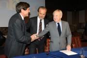 Foto/IPP/Gioia Botteghi Roma 22/12/2010 conferenza stampa in rai su San Remo, nella foto: Paolo Garimberti,  , Gianni Morandi , Mauro Masi