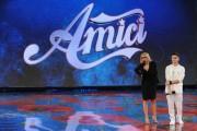 Foto/IPP/Gioia Botteghi Roma 11/01/2011 Prima puntata di Amici, nella foto: Maria De Filippi e Virginio Simonelli