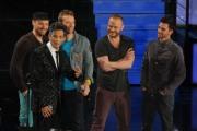 foto/IPP/Gioia Botteghi 21/11/2011 Roma, seconda puntata dello spettacolo di Fiorello nella foto con i Coldplay