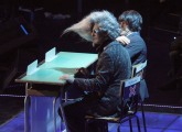 foto/IPP/Gioia Botteghi 21/11/2011 Roma, seconda puntata dello spettacolo di Fiorello nella foto con Marco Baldini