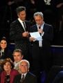 foto/IPP/Gioia Botteghi 21/11/2011 Roma, seconda puntata dello spettacolo di Fiorello nella foto con Enrico Mentana