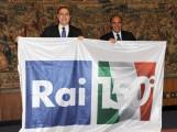 Foto IPP/Gioia Botteghi Roma 15/03/2011 Conferenza stampa di presentazione del programma di raiuno CENTOCINQUANTA, sei puntate, nella foto: i due conduttori Baudo e Vespa