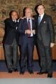 Foto IPP/Gioia Botteghi Roma 15/03/2011 Conferenza stampa di presentazione del programma di raiuno CENTOCINQUANTA, sei puntate, nella foto: i due conduttori Baudo e Vespa con il direttore di raiuno Mauro Mazza