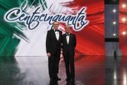 Foto IPP/Gioia Botteghi Roma 16/03/2011 Prima puntata raiuno di CENTOCINQUANTA, nella foto: Pippo Baudo, Bruno Vespa