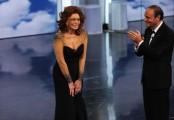 Foto IPP/Gioia Botteghi Roma 16/03/2011 Prima puntata raiuno di CENTOCINQUANTA, nella foto:  Sophia Loren e Bruno Vespa