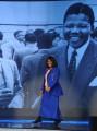 """Foto IPP/Gioia Botteghi Roma 20/03/2011 """"Alle falde del Kilimangiaro""""  ospite in studio Makaziwe Mandela, figlia del Premio Nobel per la pace e primo Presidente nero del Sudafrica, Nelson Mandela.  con Licia Colò"""