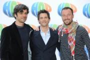 Foto IPP/Gioia Botteghi Roma 23/03/2011 presentazione del film Hop, nella foto i doppiatori: Francesco Facchinetti, Luca Argentero, James Marsden