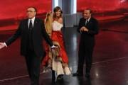 Foto IPP/Gioia Botteghi 30/03/2011 Roma terza puntata di 150anni, nella foto: Pippo Baudo, Bruno Vespa e Belen Rodriguez