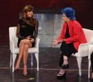 Foto IPP/Gioia Botteghi 30/03/2011 Roma terza puntata di 150anni, nella foto: Lucia Bosè  Belen Rodriguez