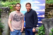 Foto IPP/Gioia Botteghi 6/04/2011 Roma presentazione del film  Source Code, nella foto:  Jake Gyllenhaall e il regista Duncan Jones