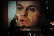 Foto IPP/Gioia Botteghi 24/04/2011 Roma puntata in mezz'ora, Lucia Annunziata intervista Vittorio Sgarbi e Domenico Scilipoti