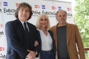 Foto IPP/Gioia Botteghi 4/05/2011 Roma, presentazione di Eurovision Raidue, nella foto: Il direttore di rete Massiomo Liofredii, Raffaella Carrà, Sergio Japino