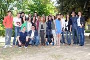 Foto IPP/Gioia Botteghi 10/05/2011 Roma,  presentazione della fiction di canale 5 I LICEALI, nella Foto il cast con regista Francesco Miccichè