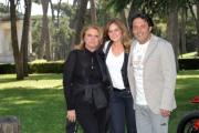 Foto IPP/Gioia Botteghi 12/05/2011 Roma,  presentazione della fiction di canale 5 Fratelli Detective, nella foto: Serena Autieri, Enrico Brignano, la regista Rossella Izzo