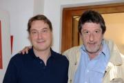 foto/IPP/Gioia Botteghi 09/06/2011 Roma, Presentazione della trasmissione di Corrado Guzzanti su Sky ANIENE, nella foto con Andrea Purgatori coautore