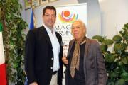 foto/IPP/Gioia Botteghi 19/07/2011 Roma, conferenza stampa di Magnagrecia film festival, il direttore artistico Giorgio Albertazzi con il presidente della regione calabria Giuseppe Scopelliti